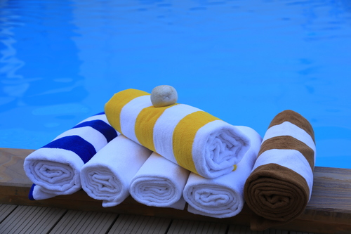 Pool Towel - Blue Stripes