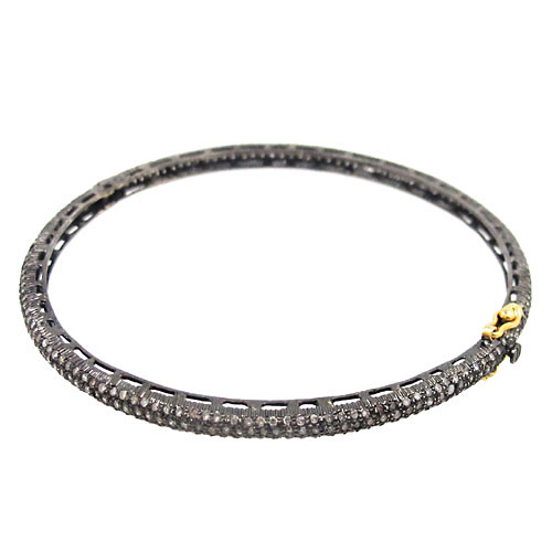 Sleek Pave Diamond Slim Bangle