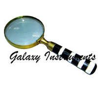 Black & White Bone Handle Magnifying glass