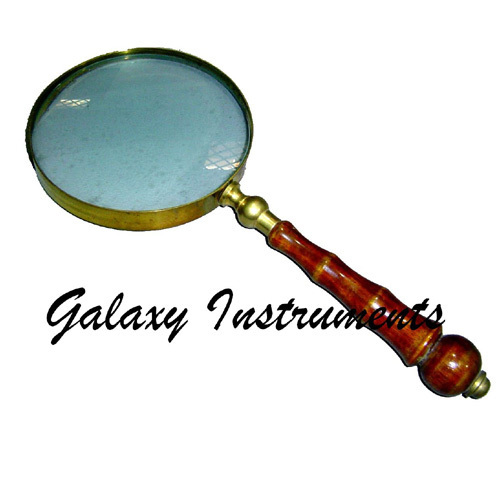 Wooden Handle Brass Magnifying Glass
