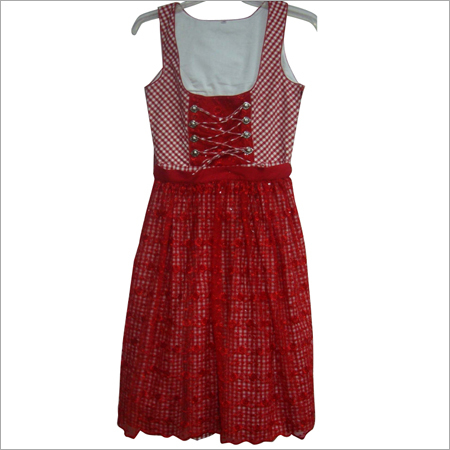 Girls Red Frock