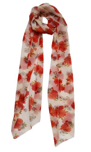 Flower Printed Chiffon Stole