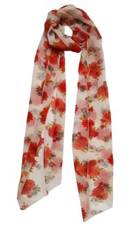 Flower Printed Cotton Stole