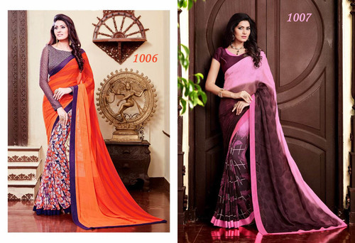 Glittering and Sparkling  Blue Sarees