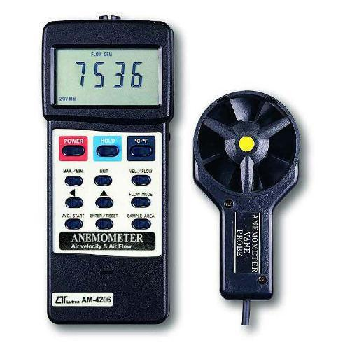 Anemometer With Air Flow And Velocity