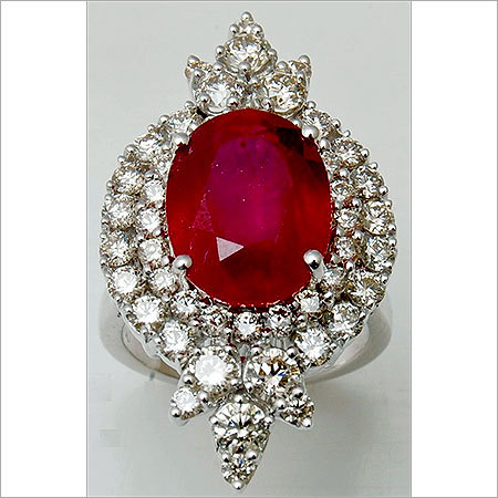 Engagement and wedding diamond ruby ring for sale