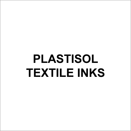Plastisol Textile Inks