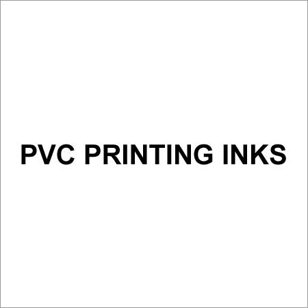 PVC Printing Inks