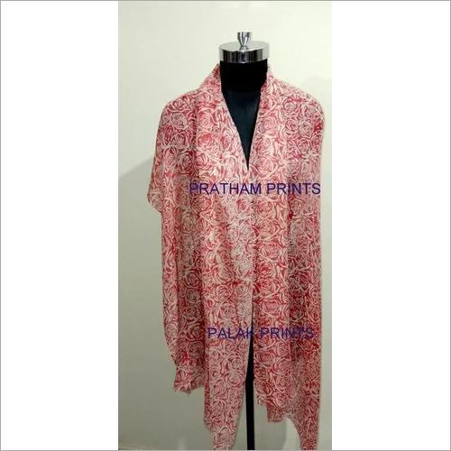 Silk Wool Block Printed shawls