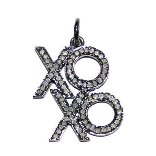 Fashionable Diamond Silver Pendant
