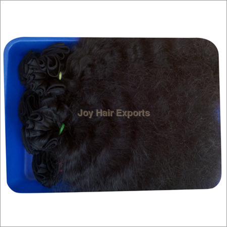 Deep Curly Weft Human Hairs