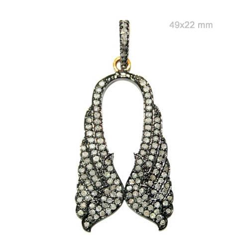 Stylish Birds Diamond Silver Pendant