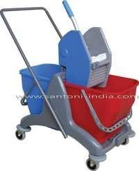 Twin Bucket Wringer Trolley