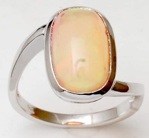 white gold opal gemstone ring for men and women