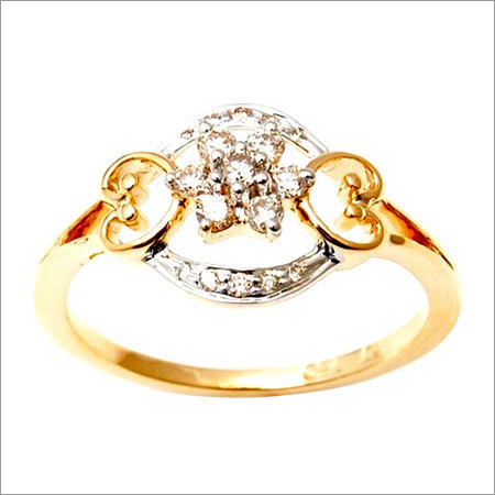 Natural diamond yellow gold ring jewelry for women