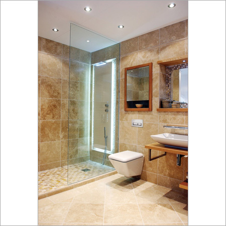 Bathroom Interior With Marble Tiles