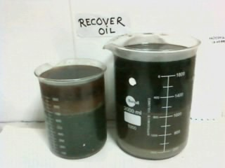 COLLECTED OIL FROM CLEANER SOLUTION