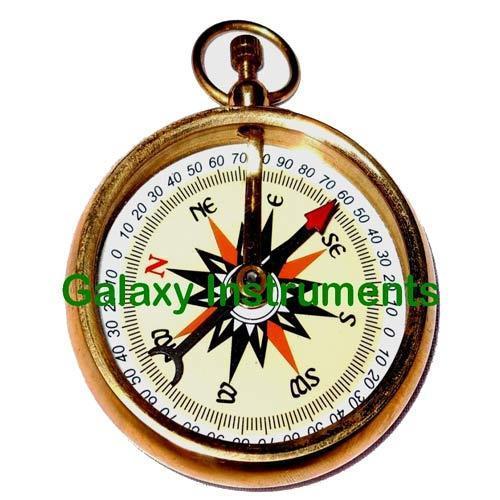 Nickel & Brass Antique Compass