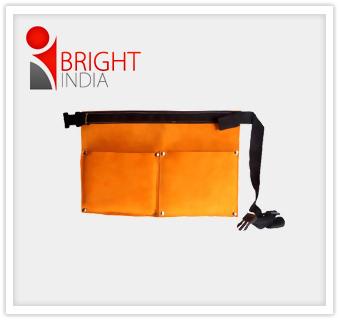 Split Leather Two Pocket Nail Bag