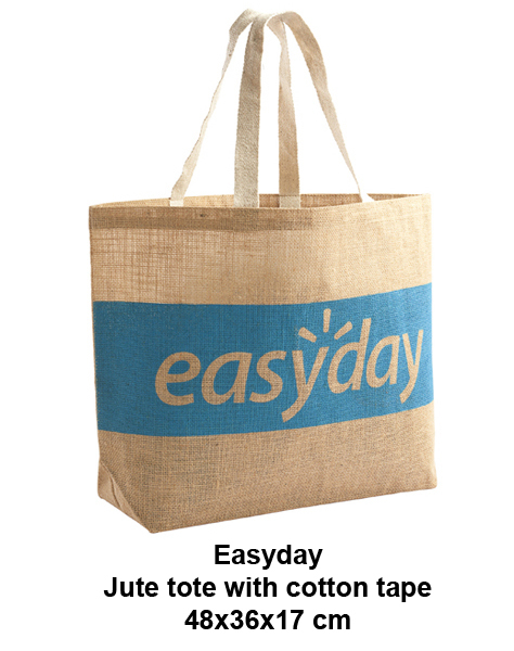 Jute Tote Bags With Cotton Tape