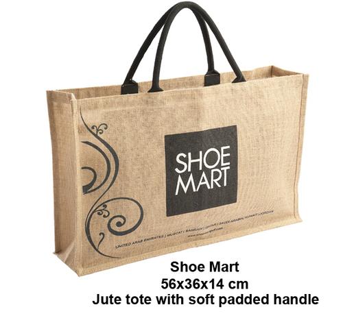Shoe Jute Tote Bag