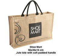 Shoe Jute Tote Bag