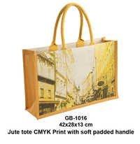 Jute Tote CMYK Printed Bag