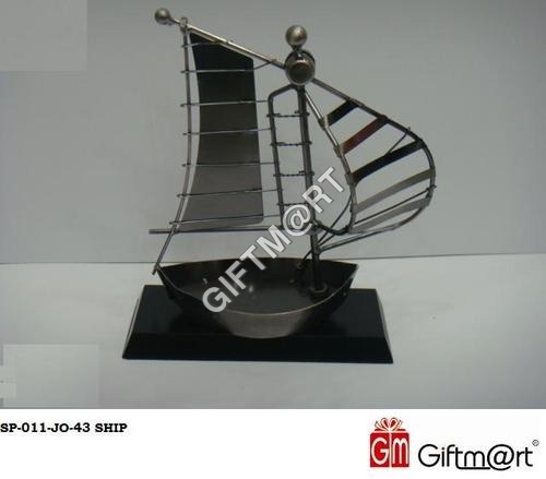 Decorative Metal Ship Showpiece