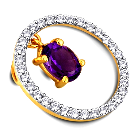Dazzling Amethyst and Diamond Pendant