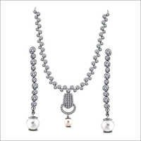 Pearl and Diamond Necklace Set