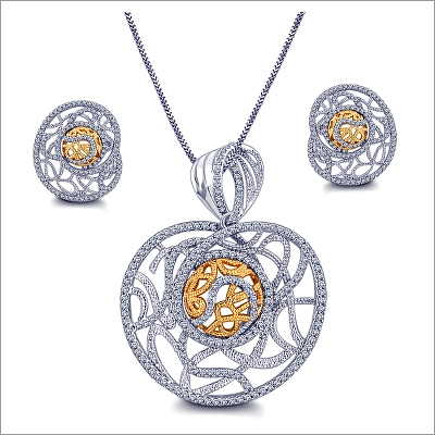online diamond buy leaf designer in pendant design earring set