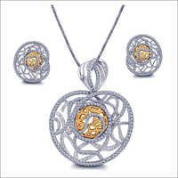 Designer Diamond Pendant Set