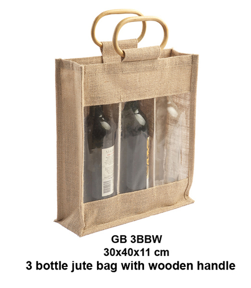 3 Bottle Jute Bag