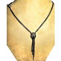 Designer Diamond Pave Sliver Chain Necklace