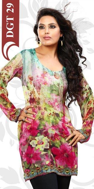 Designer printed kurtis for woman