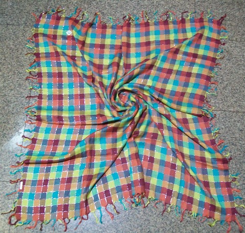 Cotton Printed Checks Scarves