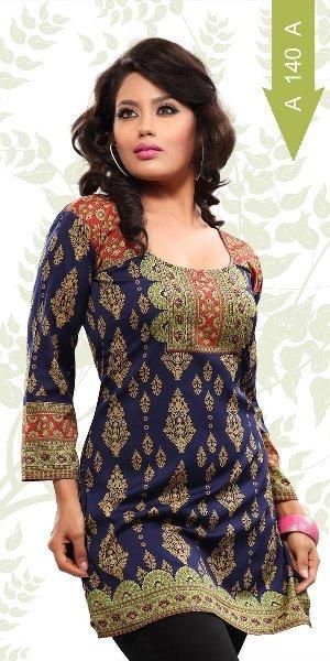 printed Crepe kurti fashion