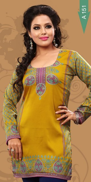 printed Crepe kurtis Suppliers