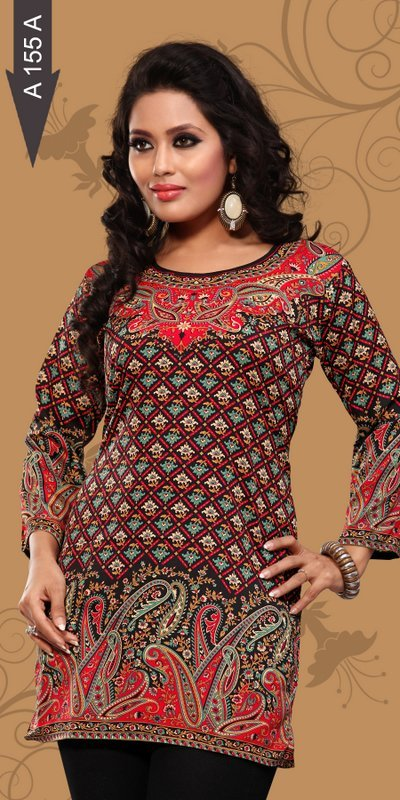 printed Crepe kurti Supplier