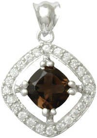 multi gemstone as per your choice silver pendant for men and women, silver gemstone pendants india
