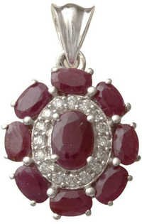 Ruby Jewelry In Silver For Wholesale