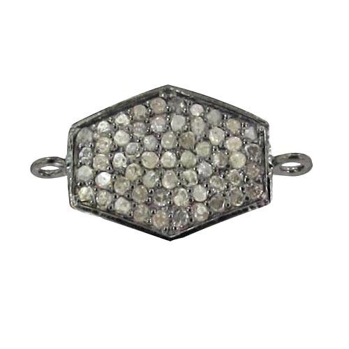 Diamond Silver Bracelet Connector Finding