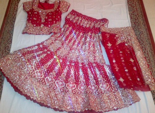 Red Heavy Bridal Lehenga