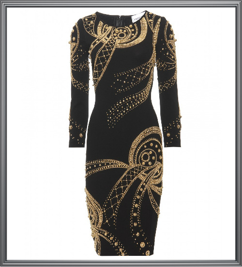Long Gold Sequin Evening Dress