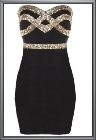 Black Designer Evening Dress