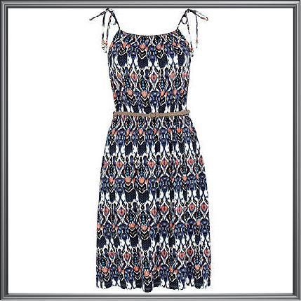 Multicolor Geometric Print Maxi Dress