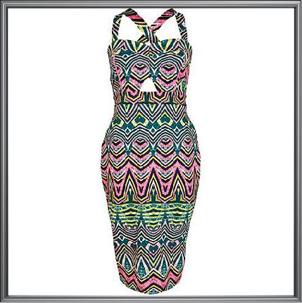 Womens Geometric Print Dress