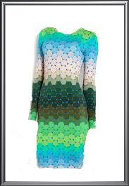 Long Sleeve Multicolored Dress
