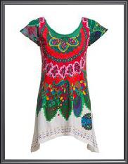 Leaf Print Knitted Dress