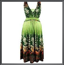 Ladies Floral Tie Dye Dress
